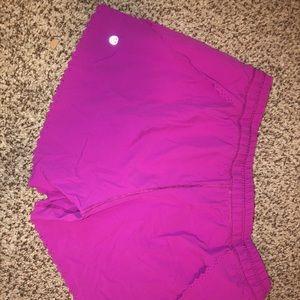 Fluorescent purple lulu shorts